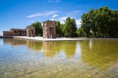 Debod,马德里,西班牙-联合国科教文组织寺庙  图库摄影