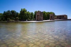 Debod,马德里,西班牙-联合国科教文组织寺庙  免版税库存图片