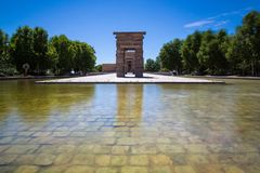 Debod,马德里,西班牙-联合国科教文组织寺庙  库存图片