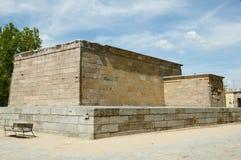 Debod -马德里-西班牙的寺庙 库存图片