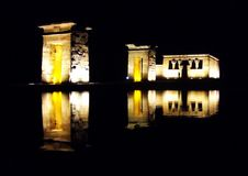 Debod. Temple in Madrid, Spain Royalty Free Stock Images