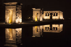 Debod egyptian temple. In Madrid,Spain Royalty Free Stock Photo