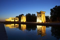 Debod Egyptian Temple Stock Photos