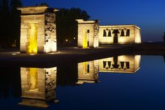 Debod Egyptian Temple Royalty Free Stock Photos