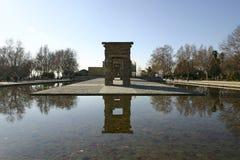 Debod Tempel in Madrid Lizenzfreies Stockfoto