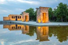 Debod-Tempel Madrid lizenzfreies stockbild