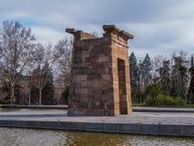 Debod-Tempel am Westpark in Madrid - Templo de Debod lizenzfreies stockbild