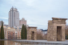 Debod temple. In Madrid, Spain Royalty Free Stock Photography