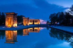 Debod temple. One of the most visited monuments in Madrid Stock Image