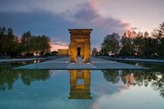 Debod Temple. One of the most visited monuments in Madrid Royalty Free Stock Photos