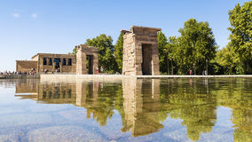 Debod- Temple Ancient Egyptian temple, moved to the West Park in. Madrid, Spain Royalty Free Stock Photography