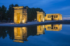 Debod Temple in Madrid Stock Images