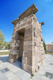 Debod Temple in Madrid. Ancient egyptian temple in Madrid. Royalty Free Stock Image