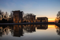 Debod Temple in Madrid Stock Image