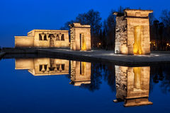 Debod temple at night Royalty Free Stock Photos