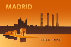 Debod temple in the night Madrid Royalty Free Stock Photos