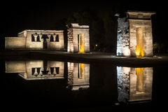 Debod Temple at night Royalty Free Stock Photo
