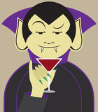 Debonair Vampire. Is about to sample his favorite drink royalty free illustration