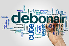 Debonair word cloud concept on grey background Royalty Free Stock Images