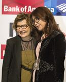 Deborah Amis and Sanyia Toiken. On October 18, 2017, Cipriani 42nd Street in New York City was the scene of the 28th International Women`s Media Foundation`s Stock Photography