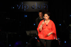 Deborah J. Carter performed in Zagreb's VIP club Stock Photography