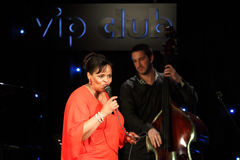 Deborah J. Carter performed in Zagreb's VIP club Royalty Free Stock Photography