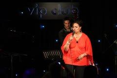 Deborah J. Carter wykonujący w Zagreb VIP klubie Fotografia Stock