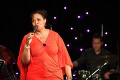 Deborah J. Carter wykonujący w Zagreb VIP klubie Zdjęcie Royalty Free