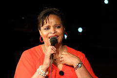 Deborah J. Carter wykonujący w Zagreb VIP klubie Zdjęcia Stock