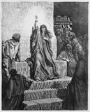 Deborah , religion figure. Deborah - Picture from The Holy Scriptures, Old and New Testaments books collection published in 1885, Stuttgart-Germany. Drawings by royalty free illustration