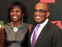 Deborah Roberts and Al Roker Stock Images