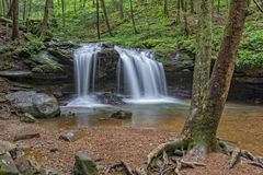 Debord Falls At Frozen Head State Park Royalty Free Stock Photo