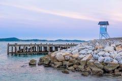 Sur le bord de la mer Photo stock