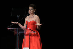 Debra Messing at Black Tie Dinner Royalty Free Stock Photography