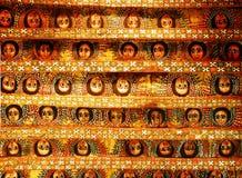 Debre Birhan Selassie kyrka eller kyrka av monteringen av Treenighet av ljuset, Gondar, Etiopien Ängel p royaltyfri fotografi