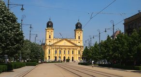 Debrecen. City with the reformed church Royalty Free Stock Photos
