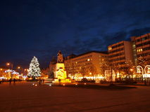Debrecen Chrismast light Stock Images