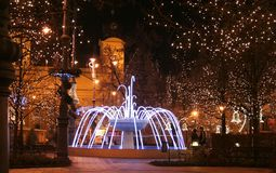 Debrecen in Christmas Stock Image