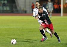 Debrecen contra PSV Eindhoven 1-2 Imagen de archivo libre de regalías