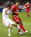 Debrecen contre l'allumette de l'UEFA Champions League de Liverpool Image stock