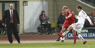 Debrecen contre l'allumette de l'UEFA Champions League de Liverpool Photos stock