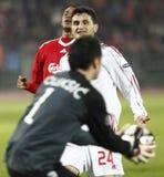 Debrecen contre l'allumette de l'UEFA Champions League de Liverpool Photos libres de droits