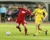 Debrecen contre le 0:5 de FC Metalist Kharkiv Photo libre de droits