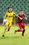 Debrecen contre le 0:5 de FC Metalist Kharkiv Image libre de droits