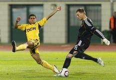 Debrecen contre le 0:5 de FC Metalist Kharkiv Photo stock