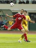 Debrecen contre le 0:5 de FC Metalist Kharkiv Photographie stock libre de droits