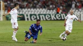 Debrecen contre Levski Sofia, l'UEFA Champions League Image stock