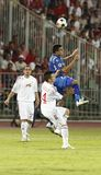 Debrecen contre Levski Sofia, l'UEFA Champions League Images stock