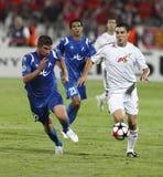 Debrecen contre Levski Sofia, l'UEFA Champions League Image libre de droits