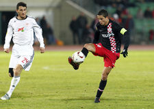 Debrecen contre PSV Eindhoven 1-2 Photos stock